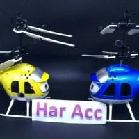 permainan anak2 flying helycopter sensor toy terbang