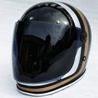 Bell Bullitt helm custom. helm jadul. helm classic retro