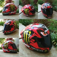 Helm ink cl max decal Diablo shark + Dark Flat visor kbc