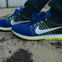 Sepatu Nike Zoom Flyknit Racing #40-44 #Biru Hitam #Running #Jogging