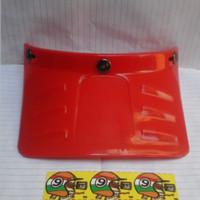 Pet Duck Panjang Cap Topi Helm Retro Bogo Cargloss Moto Osbe Merah