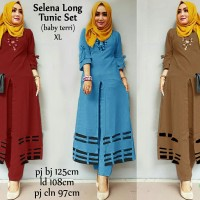 model baju muslim gamis terbaru dan modern selena long tunic