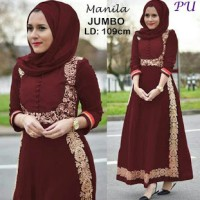 MANILA MARON BALOTELI DRESS INDIA BAJU PESTA HIJABERS MEWAH EXCLUSIVE