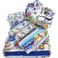 Tas Bantal Guling Gendongan Alas Tidur Perlak Bayi Set 4 in 1 Chekid