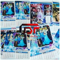 Kalender Dinding 2018 4 Bulanan Custom Free Design