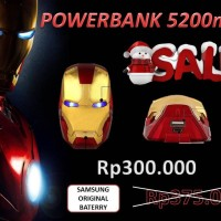 PROMO!! Power Bank Ironman Samsung Original Battery 5200mah