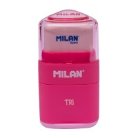 Milan Pencil Sharpener & Eraser TRI #47001 Pink