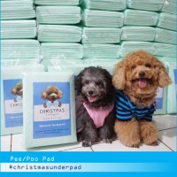 Christmas Underpad Pee Pad Toilet Training Anjing 10 lembar