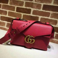 tas gucci marmont red sling bag crossbody Ori leather