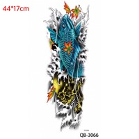 QB-3066 Tattoo Temporer Koi Oriental - Tato Ikan Cina Full Arm
