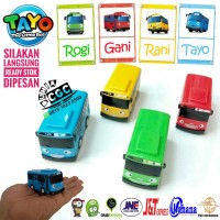Mainan Mobil Tayo Pull Back n GO The Little Bus Isi 1 ADA DUS Diecast