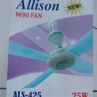 Kipas Angin Gantung/Mini Fan 25 Watt 4 baling 900 mm Allison