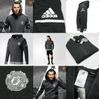 bd74b947e JAKET HOODIE ADIDAS MANCHESTER UNITED GREY NEW SEASON 17 18 GRADE OR