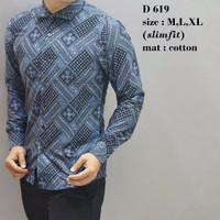 Batik Cowok Model Lengan Panjang Desain Modern/Manis/Best Seller