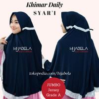 Jilbab Syari JILBAB SERUT JUMBO Jilbab Renda Khimar Daily Instan Hijab
