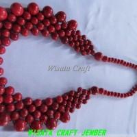 Harga kalung etnik batu red coral model bulan 01by wisata craft jember | Pembandingharga.com