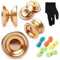 [AS] Magic Yoyo T8 Shadow Yoyo Ball Clutch Alloy, Alumunium Gold
