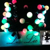 lampu natal twinkle bola kelereng pinus kristal bi Murah by: FOR STORE
