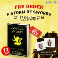 BUKU NOVEL BARU A Storm of Swords (Game of Thrones #3) Bonus Stiker