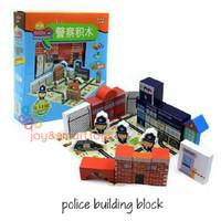 POLICE STATION BUILDING BLOCKS| WOODEN TOYS | MAINAN KAYU | KIDS TOYS