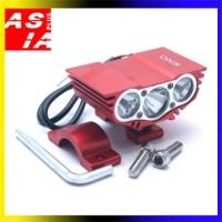 LAMPU TEMBAK Q5 TERANG ORI ASLI ONS VARIASI MOTOR RACING 3 LED 30W RED
