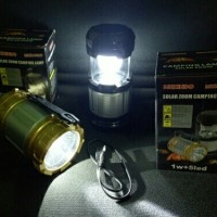 Lampu Lentera Senter Emergency Solar + Power Bank