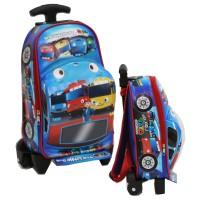 Tas Anak Sekolah Trolley PAUT Bus TAYO BahanKain Sponge Tahan Air