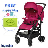 Inglesina Zippy Light Stroller Sweet Candy Free EZPZ Happy Mat Lime