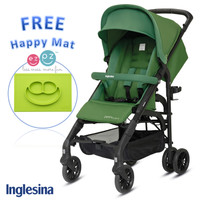 Inglesina Zippy Light Stroller Golf Green Free EZPZ Happy Mat Lime