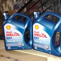 Oli Shell Helix HX 7 SAE 10W 40 Galon 4 Liter Original