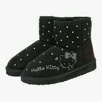 sepatu boots winter hello kitty ori jepang
