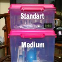 Drybox Dry box with hygrometer ukuran medium untuk camera DSLR dll