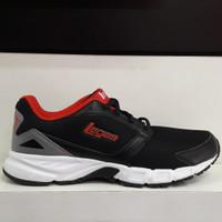 Sepatu Running Legas KOGA LA M - Black/Flame Scarlet/Couldbrush