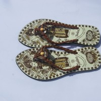 Sandal jepit Wanita / Cewek Tali kepang bali
