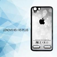 Casing Hardcase HP Lenovo K5 K5 Plus Silver Glitter X3897