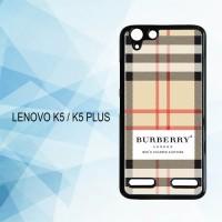 Casing Hardcase HP Lenovo K5 K5 Plus Burberry X5705