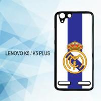 Casing Hardcase HP Lenovo K5 K5 Plus Real Madrid X4323