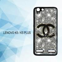 Casing Hardcase HP Lenovo K5 K5 Plus Chanel Glitter X4437