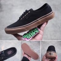 Sepatu VANS AUTHENTIC BLACK GUM RING GOLD BNIB Pria Made In CHINA