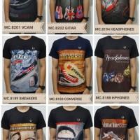 Kaos Cowok Baju Full Print Pria Tshirt Harga Grosir Termurah Mix