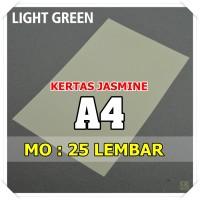 Kertas Karton Jasmine / Paper Flower A4 LIGHT GREEN HIJAU MUDA