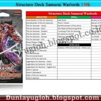 Yugioh Structure Deck Structure Deck Samurai Warlords / Sixsam (ORI)