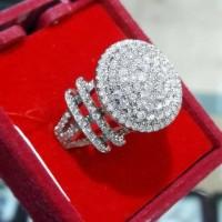 Cincin Pernikahan Emas 18k Berlian Eropa Asli Putih Tunangan Murah Z10