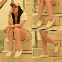 sepatu wedges kets wanita remaja terbaru keren casual jalan santai