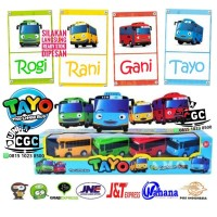 Mainan Mobil Tayo Pull Back n GO The Little Bus Isi 4 ADA DUS Diecast