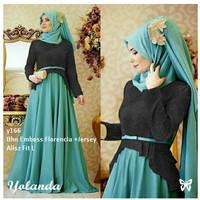 busana muslim gamis maxi pashmina hijab jilbab warna hitam baju pesta