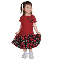 Pretty Girl - Dress Casual Hitam Merah - 1sugar