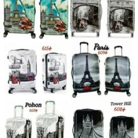harga Tas Koper Travel Anak Dewasa Fiber 2 In 1 Set Luggage Travel Bag Motif Tokopedia.com