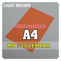 Kertas Karton Jasmine / Paper Flower A4 LIGHT BROWN COKELAT MUDA