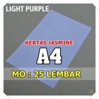 Kertas Karton Jasmine / Paper Flower A4 LIGHT PURPLE UNGU ABU